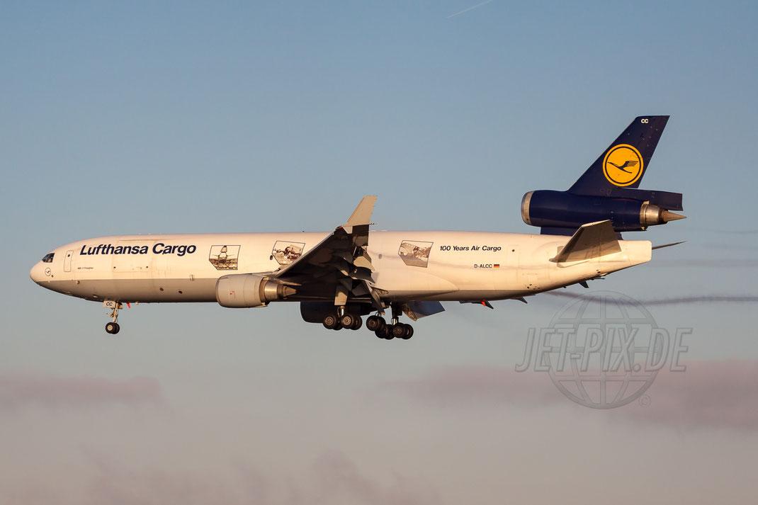 """D-ALCC Lufthansa Cargo """"100 Years of Air Cargo"""" McDonnell Douglas MD-11F 2012 01 15 EDDF Frankfurt"""
