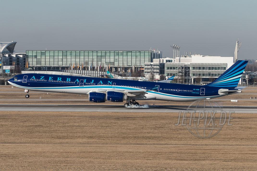 4K-AI08 AZAL Airbus A340 2017 02 16 EDDM München
