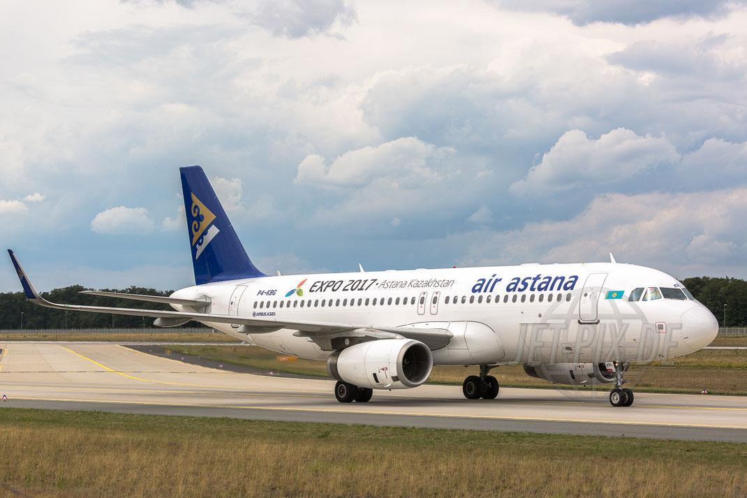 P4-KBG Air Astana Airbus A320-232(WL) 2017 08 02 EDDF Frankfurt