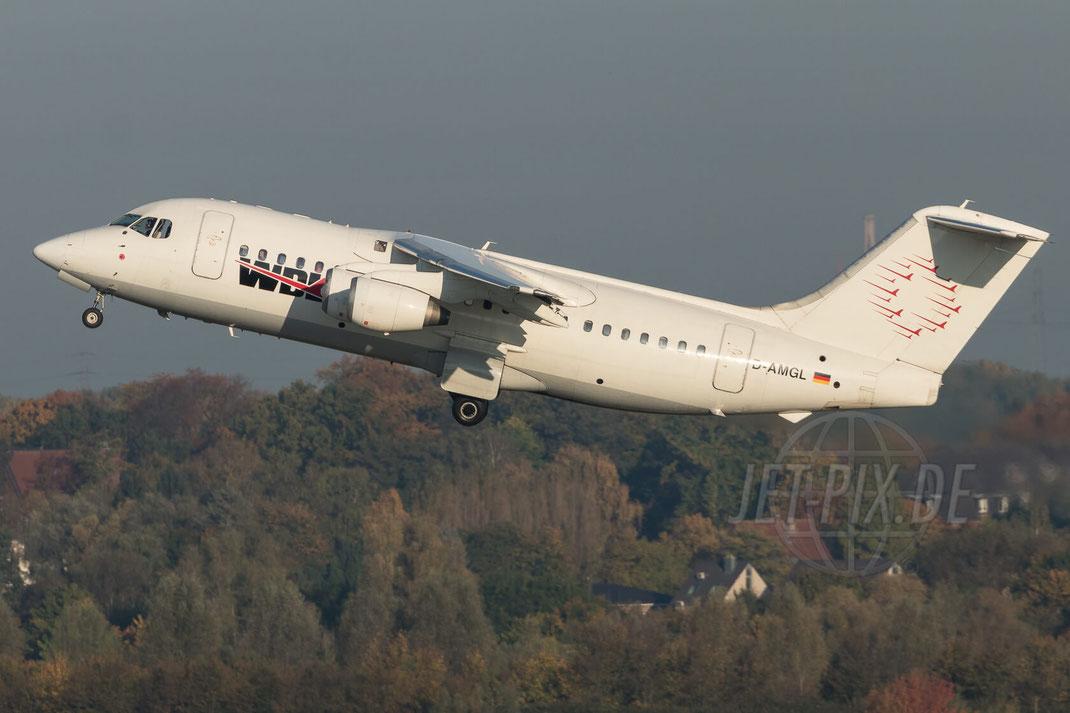 D-AMGL WDL Aviation British Aerospace 146-200 2017 10 14 EDDL Düsseldorf