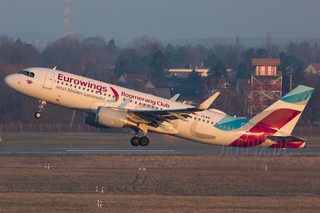 D-AEWM Eurowing Airbus A320 Boomerang Club 2018 02 18 EDDL Düsseldorf