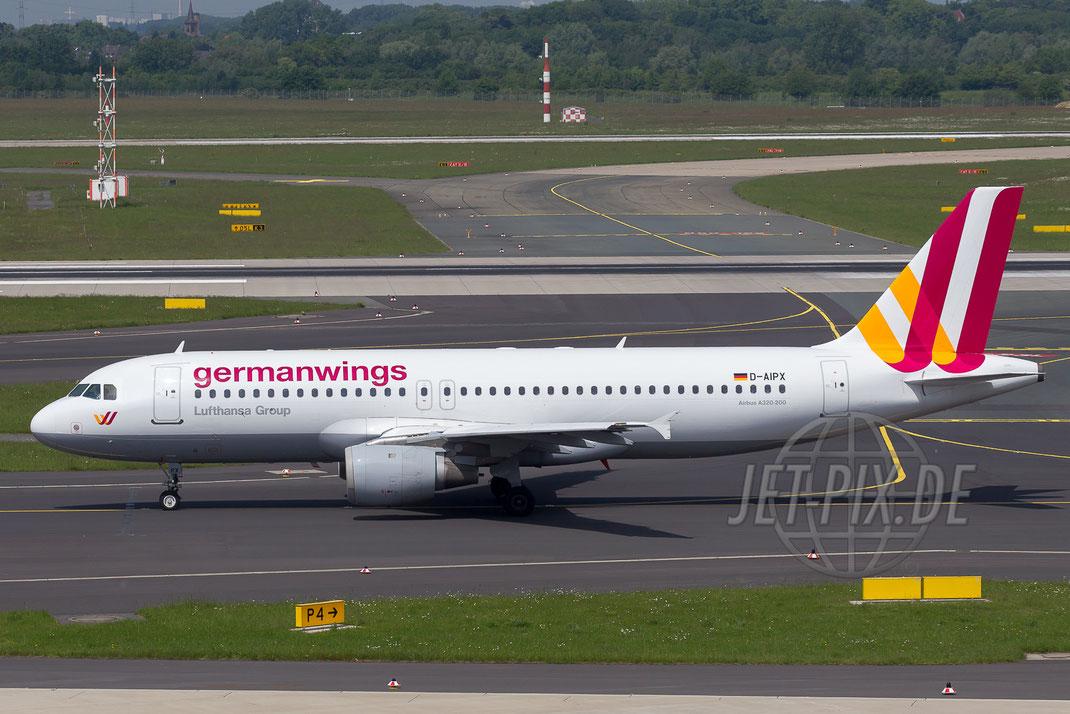 D-AIPX Germanwings Airbus A320 2014 05 18 EDDL Düsseldorf