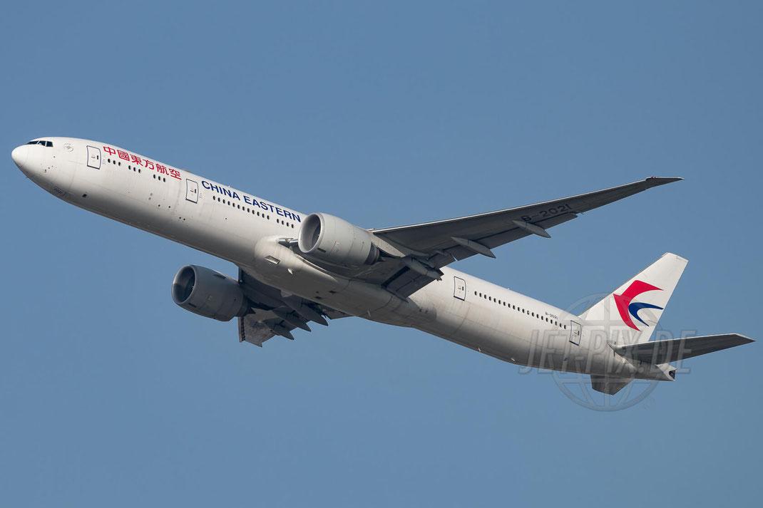 B-2021 China Eastern Airlines Boeing 777-39P(ER) 2017 10 16 EDDF Frankfurt