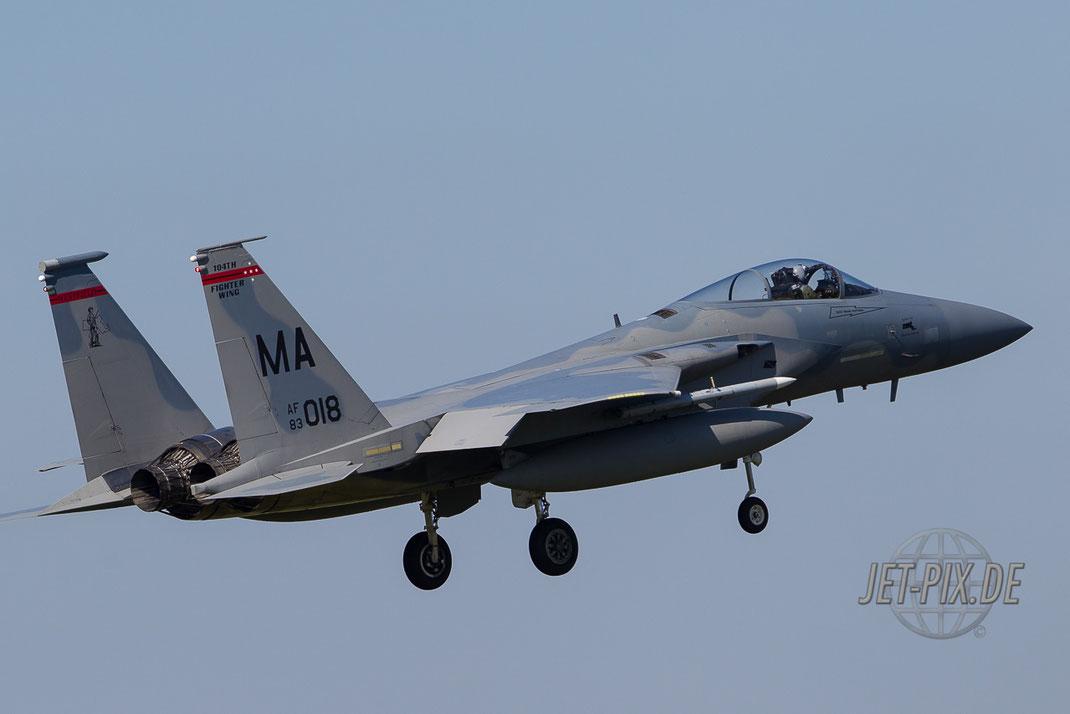 Landung F15 in Leeuwarden