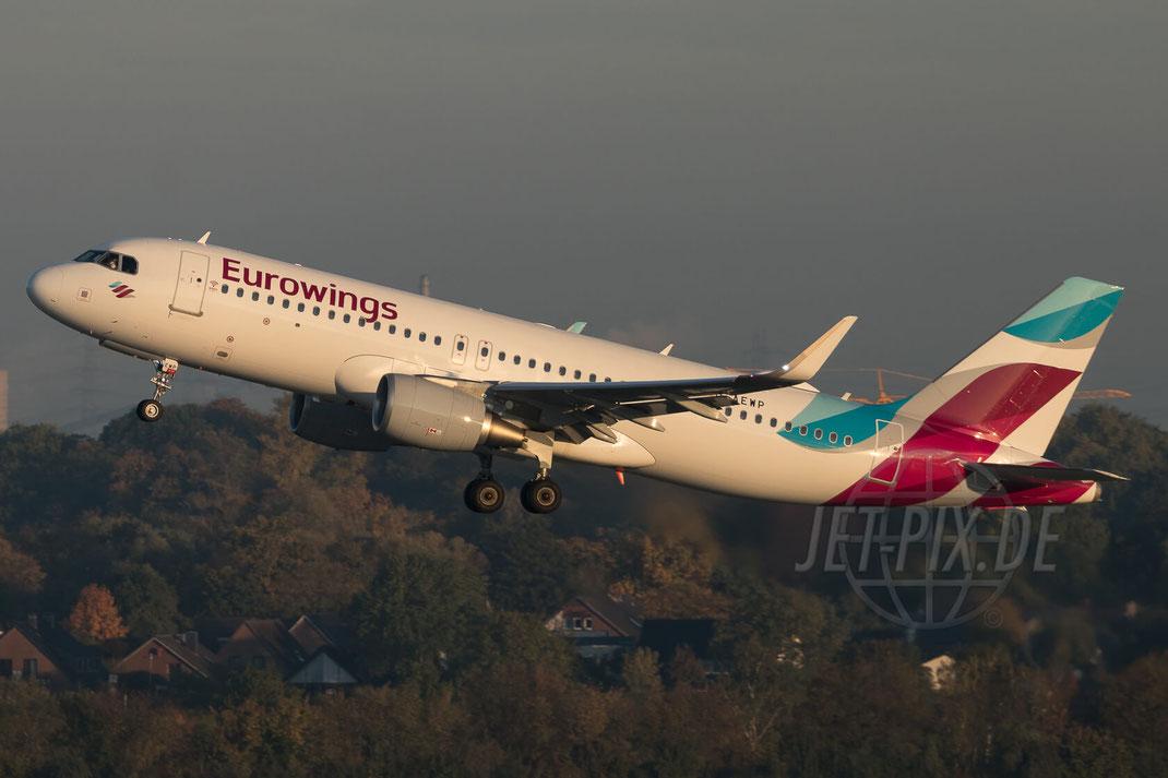 D-AEWP Eurowings Airbus A320-214(WL) 2017 10 14 EDDL Düsseldorf