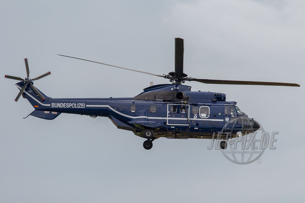 D-HEGL Bundespolizei AS-332 L1 Super Puma 2014 05 24 Outbound ETOU Erbenheim
