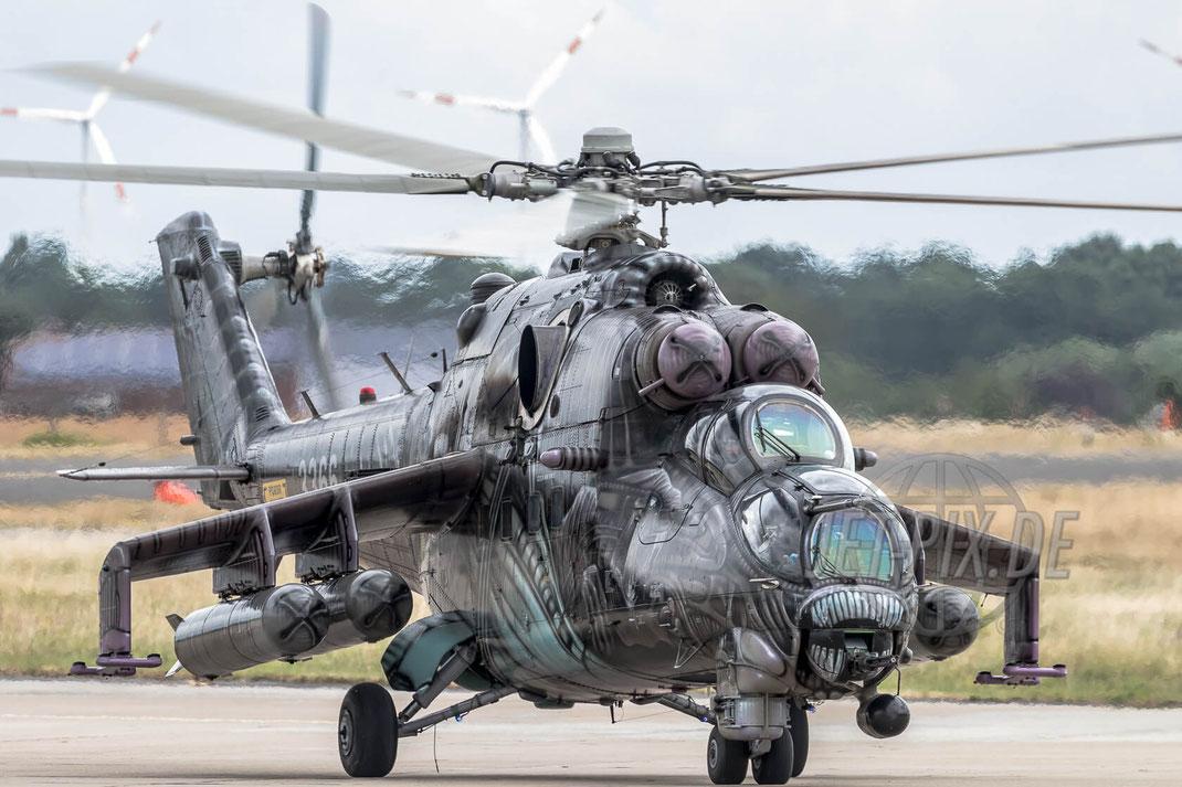 """3366 Czech Air Force Mi-35 2017 06 30 ETNG Geilenkirchen """"35 Years E-3A"""""""