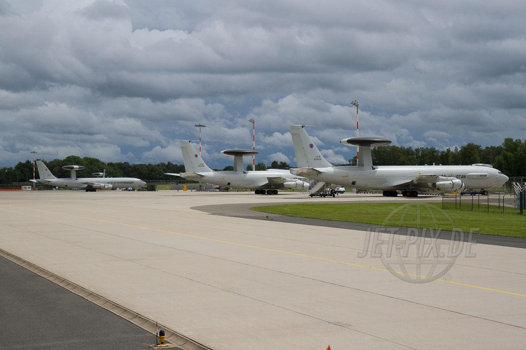 """LX-N90447 NATO AWACS Boeing 707 E3A 2012 06 16 ETNG Geilenkirchen """"Massiv"""""""