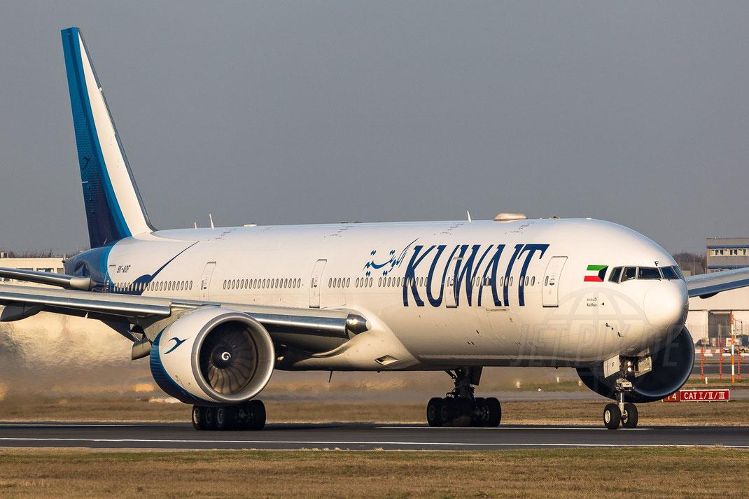 9K-AOF Kuwait Airways Boeing 777-300 2018 01 09 EDDF Frankfurt