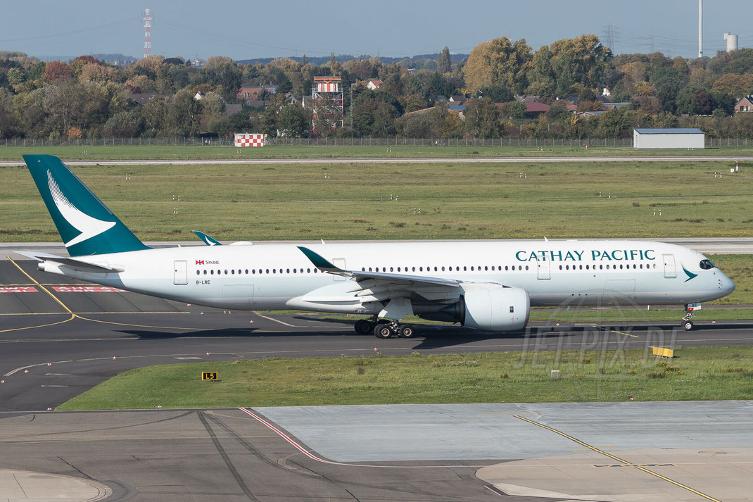 B-LRE Cathay Pacific Airbus A350-941 2017 10 14 EDDL Düsseldorf