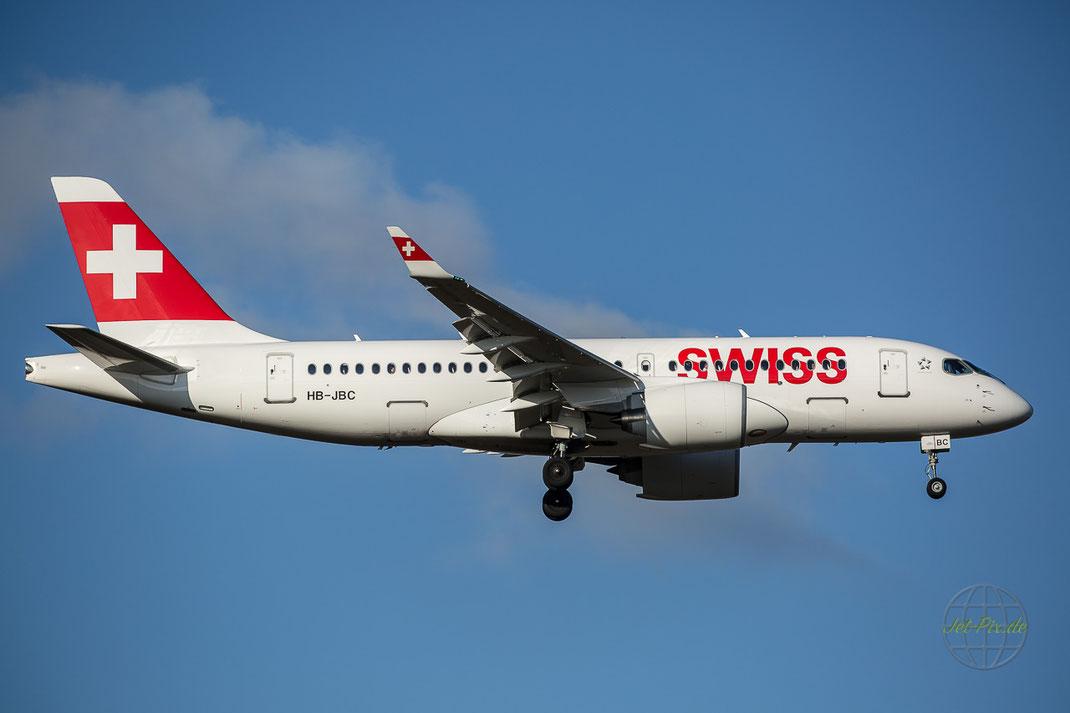 Endlich kommt die neue C-Serie von Bombardier nach Frankfurt Swiss hat da was tolles im Programm