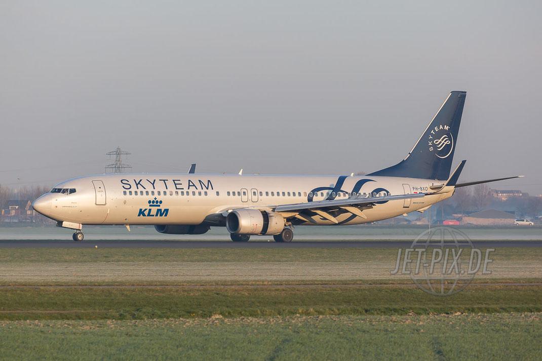 PH-BXO KLM Royal Dutch Airlines Boeing 737-9K2(WL) Amsterdam (EHAM) Landing Polderbaan JET-PIX.DE Schiphol Jetspotter Planespotting Planespotter bestes Wetter Fritten Krokett Lebensgefühl Niederländer Spaß