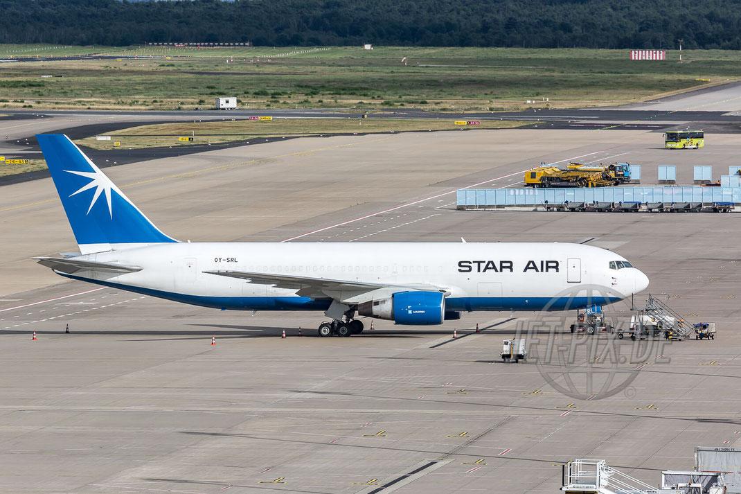 OY-SRL Star Air Boeing 767-232(BDSF) 2017 06 30 EDDK Köln/Bonn