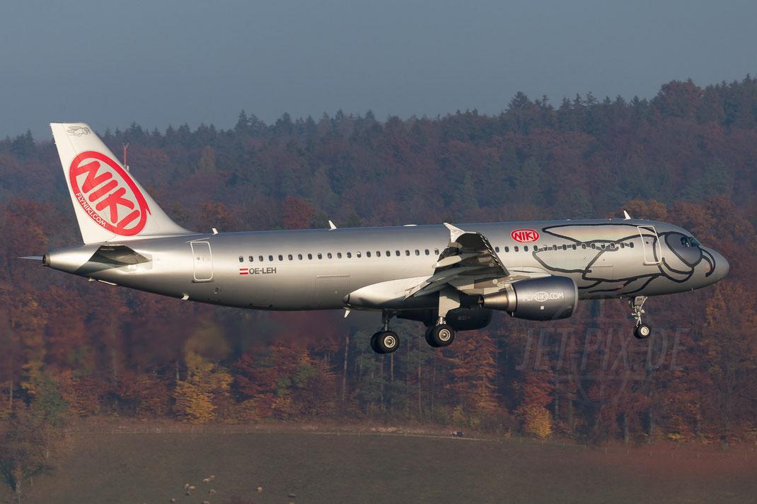 OE-LEH Niki Airbus A320-214 2015 11 01 LSZH Zürich