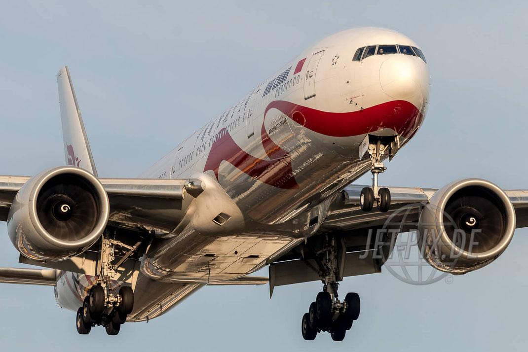 B-2006 Air China Boeing 777-300ER EDDF Frankfurt  Nordwestbahn Landen Landung Spotting Parken Ticona Leiter Morgens tolles Wetter