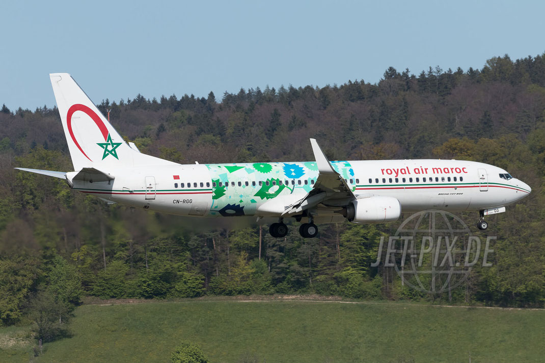 CN-RGG Royal Air Maroc Boeing 737 2017 04 30 ZRH