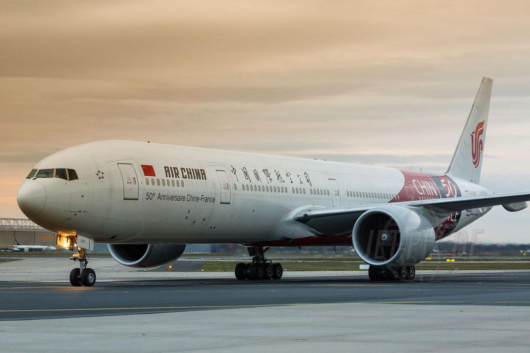 B-2047 Air China Boeing 777-39L(ER) 2017 10 28 EDDF Frankfurt Tour 747UA End