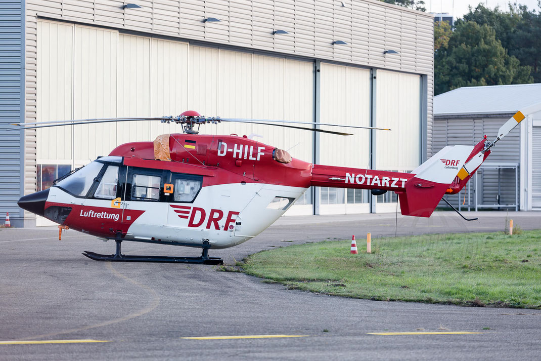 D-HILF DRF Luftrettung (German Air Rescue) Eurocopter EC145 2017 10 07 EDSB Baden Baden
