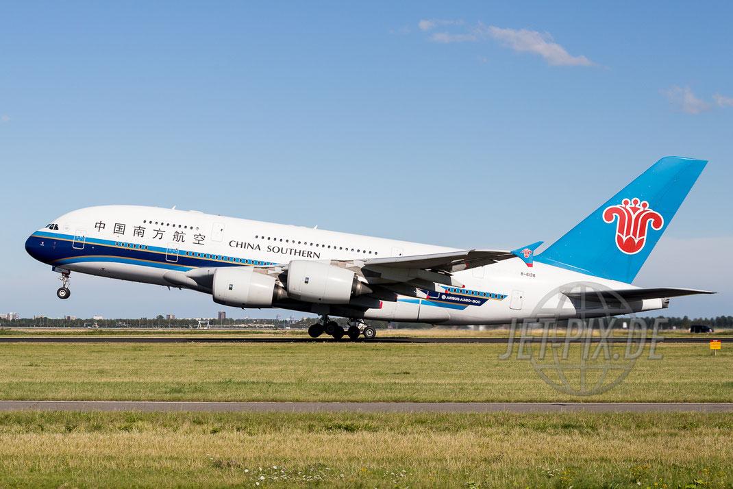B-6136 China Southern Airbus A380 2015 08 08 EHAM Amsterdam