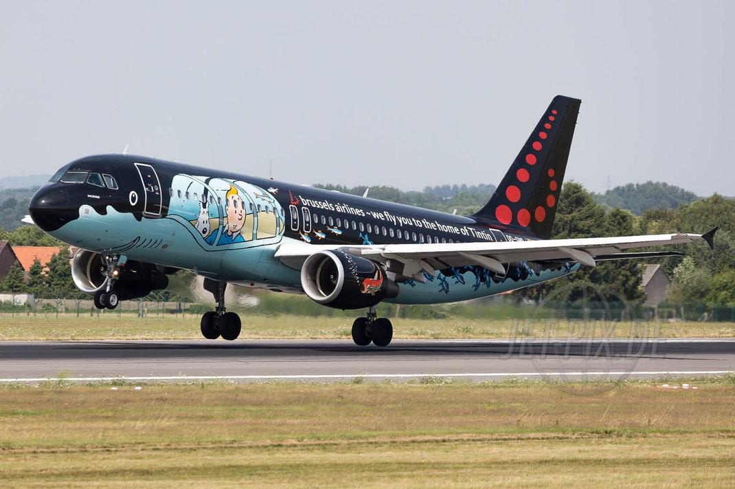"OO-SNB Brussels Airlines Airbus A320-214 ""Tintin"" 2017 07 07 Brüssel Zaventem (BRU/EBBR)"