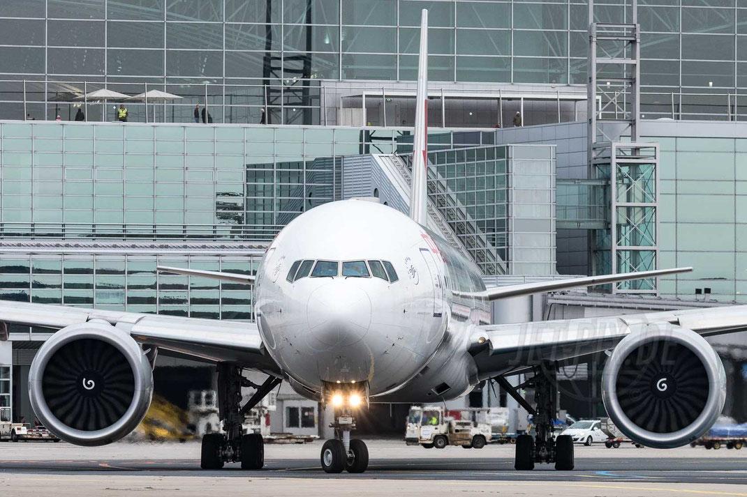B-7365 China Eastern Airlines Boeing 777-39P(ER) 2017 10 28 EDDF Frankfurt Tour 747UA End