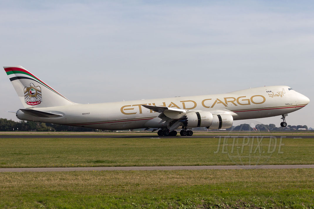 N855GT Etihad Airways Boeing-747-87UF 2013 10 03 EHAM Amsterdam