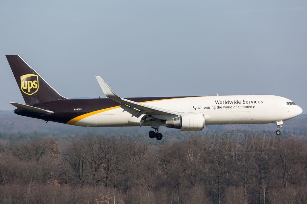 N330UP UPS Boeing 767 2018 02 18 EDDK Köln