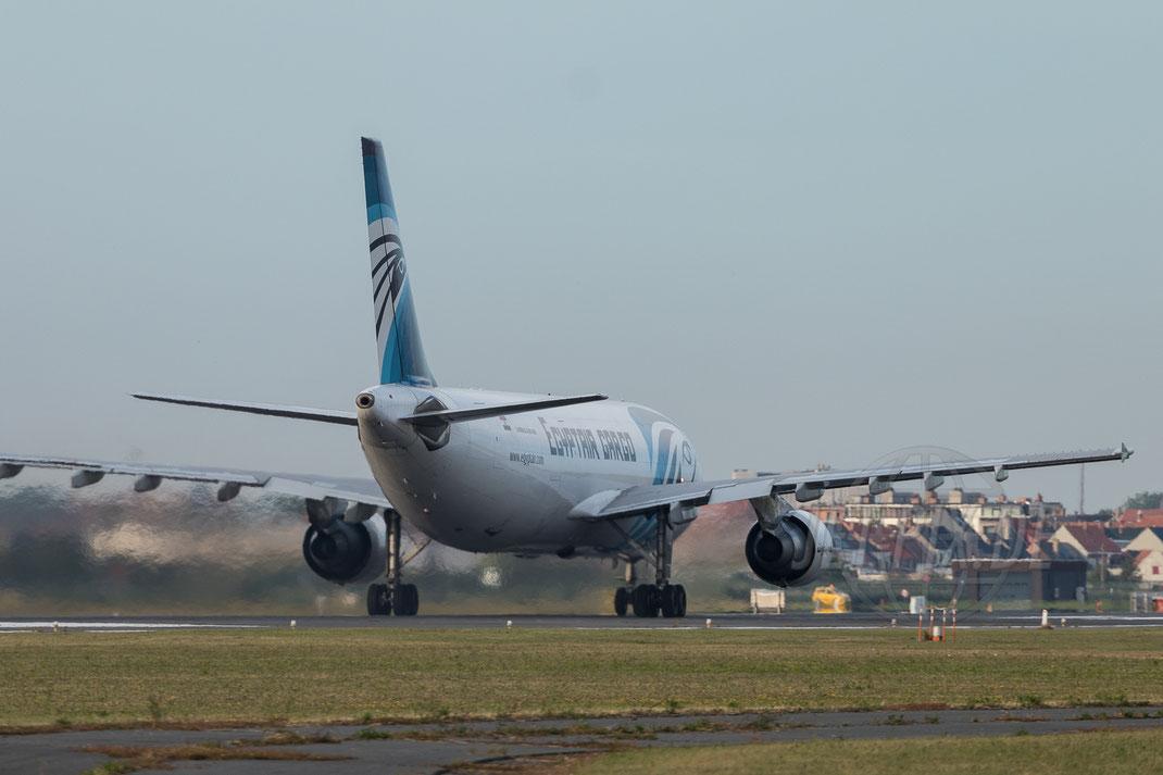 SU-GAS EgyptAir CargoAirbus A300-600 2017 07 09 Ostende EBOS