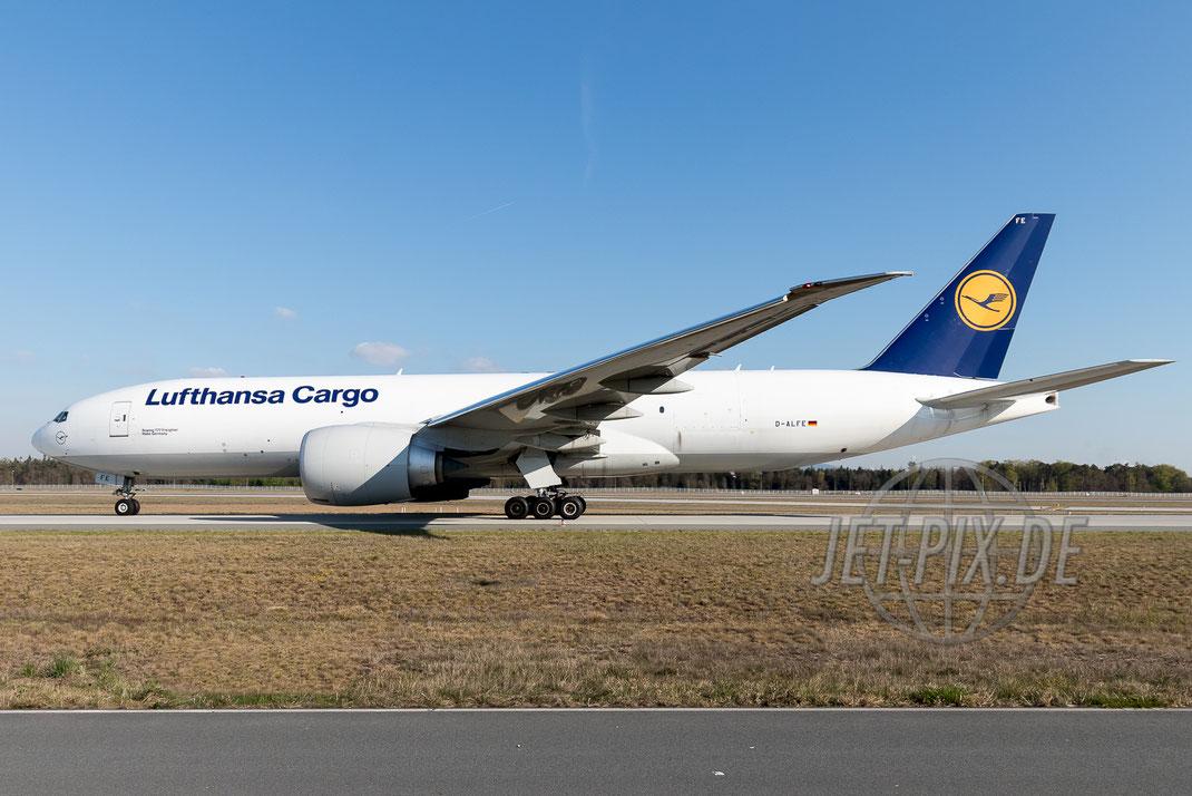D-ALFE Lufthansa Cargo Boeing 777F 2017 04 20 EDDF Frankfurt