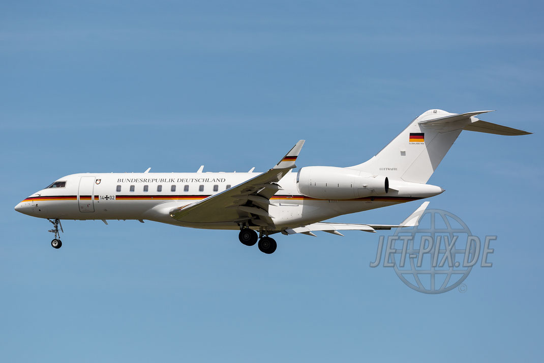 14+02 German Air Force Bombardier BD-700-1A11 Global 500 2017 06 12 EDDF Frankfurt