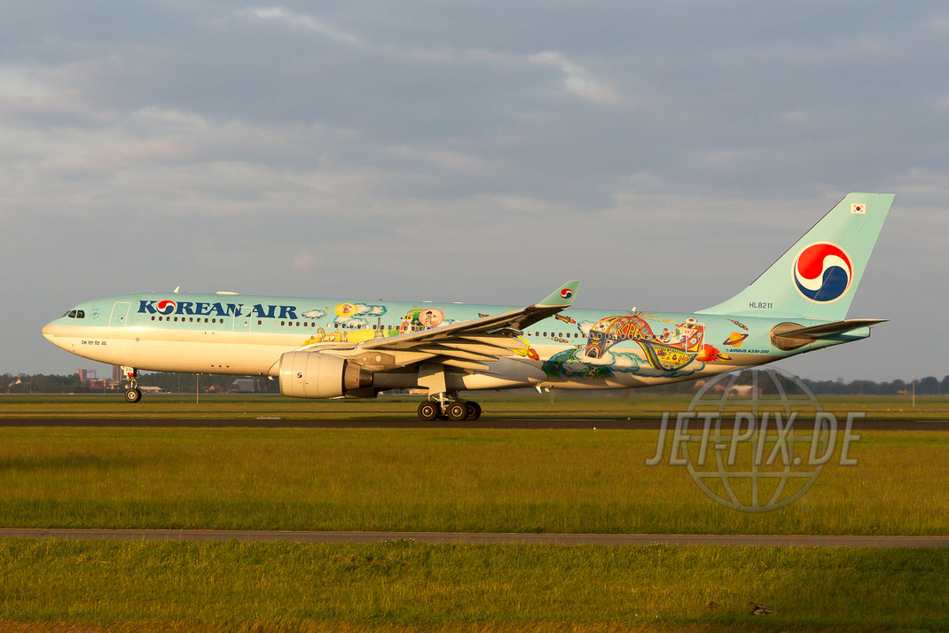 "HL8211 Korean Air Airbus A330 ""Children Drawing Contest"" 2014 05 30 EHAM Amsterdam"
