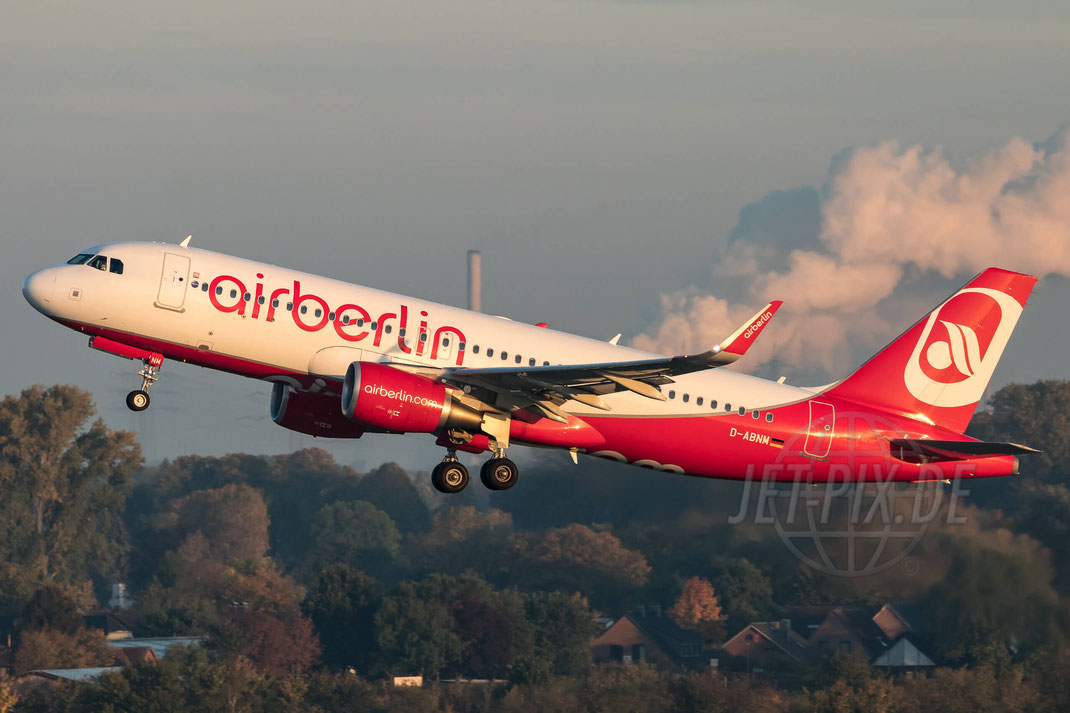 D-ABNM Air Berlin Airbus A320-214(WL) 2017 10 14 EDDF Düsseldorf