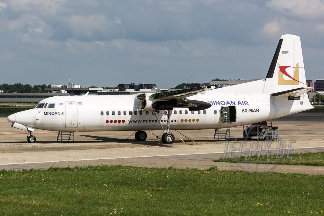 SX-MAR Minoan Air Fokker F50 2017 07 26 EHBK Maastricht