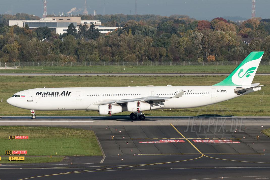 EP-MMA Mahan Airlines Airbus A340-311 2017 10 14 EDDL Düsseldorf