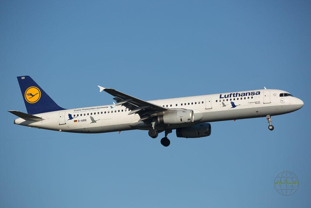 Kranich Schutz bei Lufthansa in Frankfurt am Main