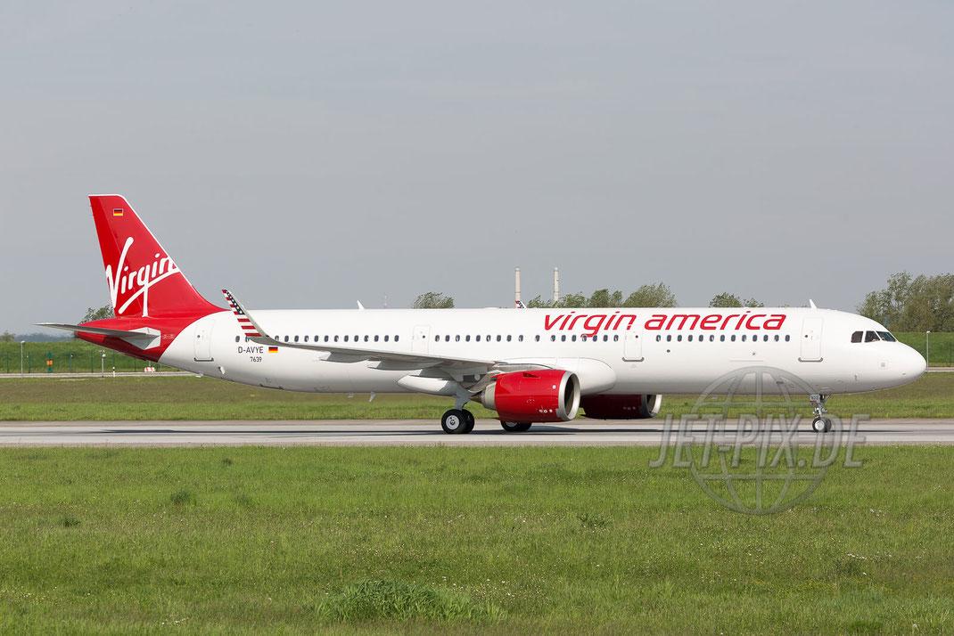 D-AVYE / N922VA/ Virgin America Airbus A321neo 2017 05 18 EDHI Finkenwerder