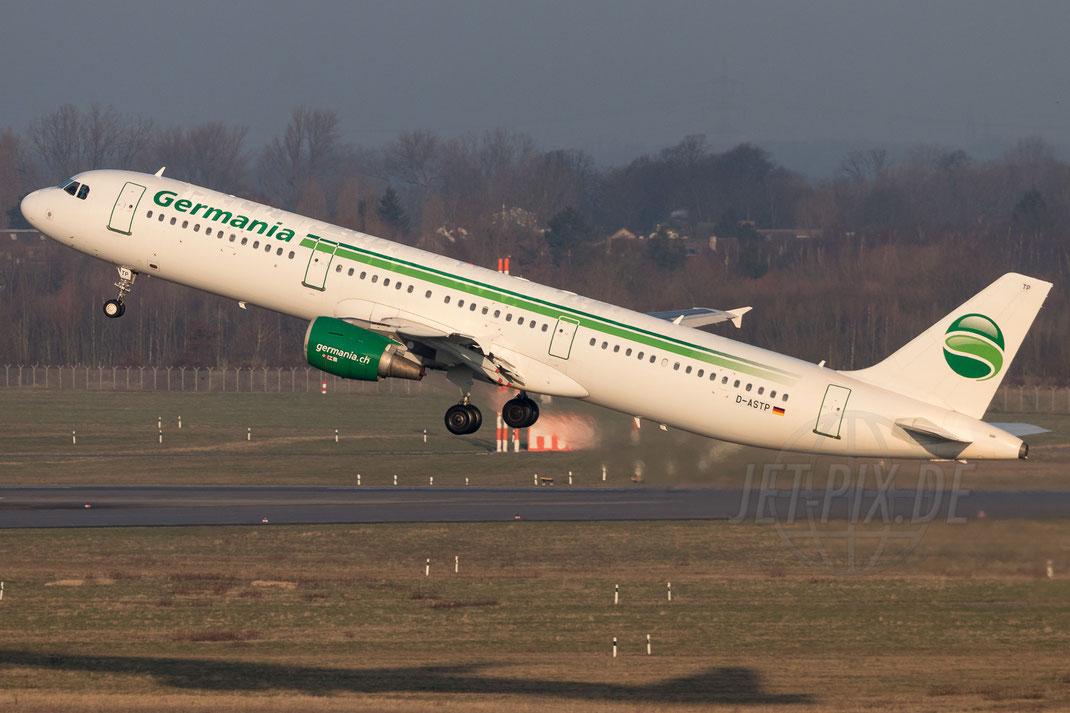 D-ASTP Germania Airbus A321 2018 02 18 EDDL Düsseldorf