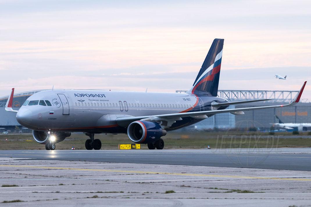 VQ-BST Aeroflot - Russian Airlines Airbus A320-214(WL) 2017 10 28 EDDF Frankfurt Tour 747UA End