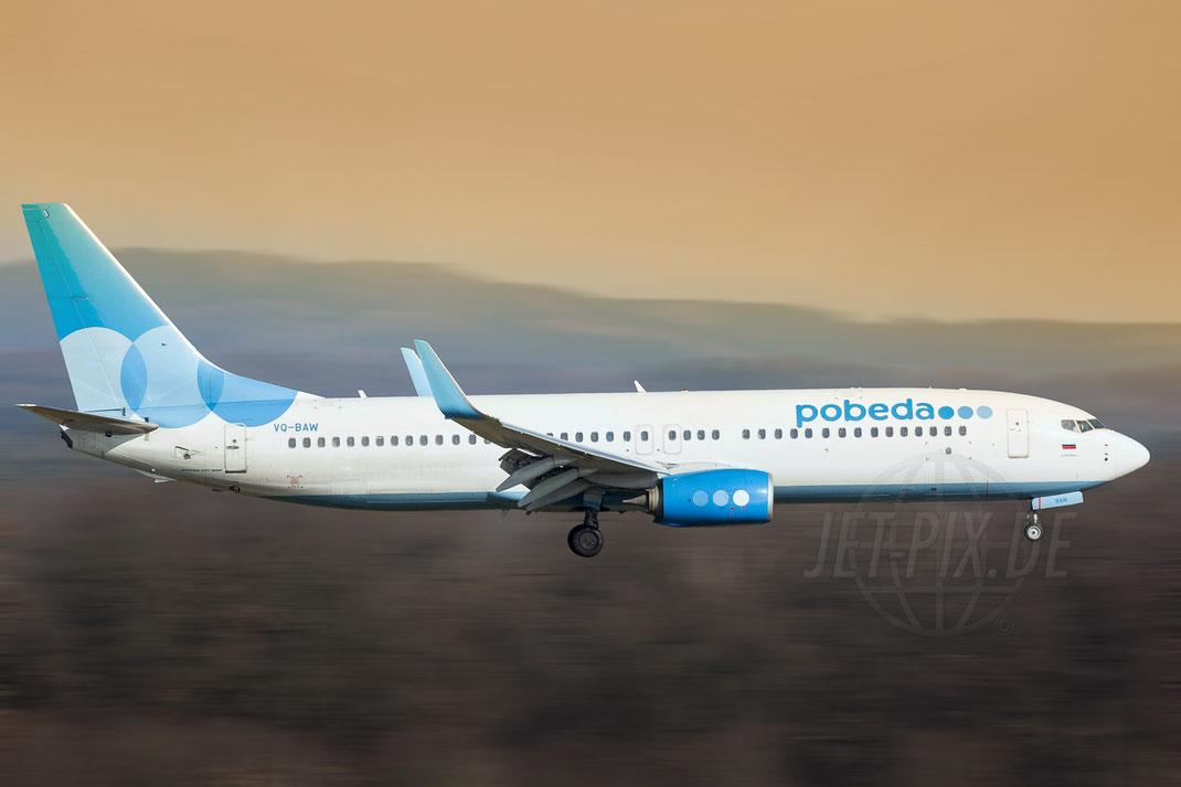 VQ-BAW Pobeda Boeing 737-8MA(WL) 2018 02 18 EDDK Köln