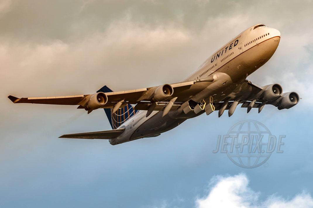 N119UA United Airlines Boeing 747-422 2017 09 14 EDDF Frankfurt
