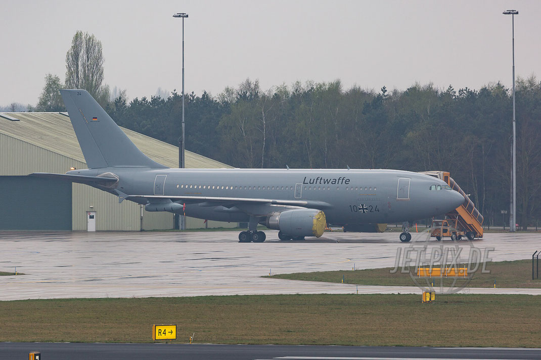 """10+24 Deutsche Luftwaffe Airbus A310 MRTT Eindhoven (EHEH) Luftwaffenbasis Niederlande Stratotanker Teilnehmer Frisian Flag 2017 """"EART"""" European Air Refuelling Training"""