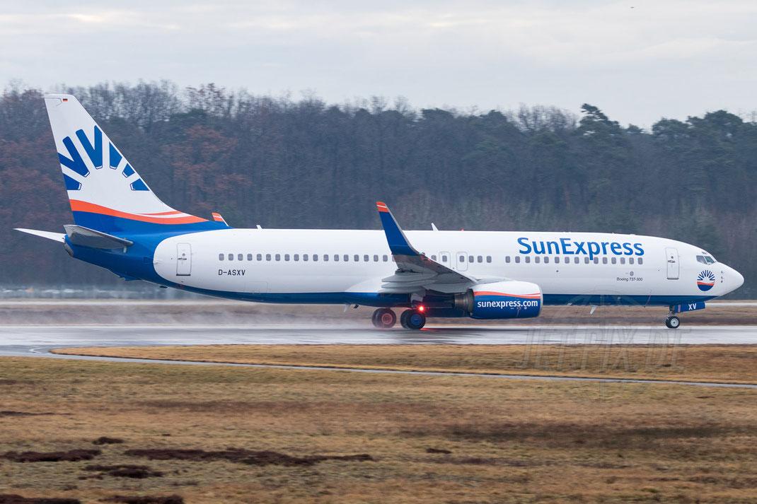 D-ASXV SunExpress Boeing 737  2018 03 10 EDDF Frankfurt