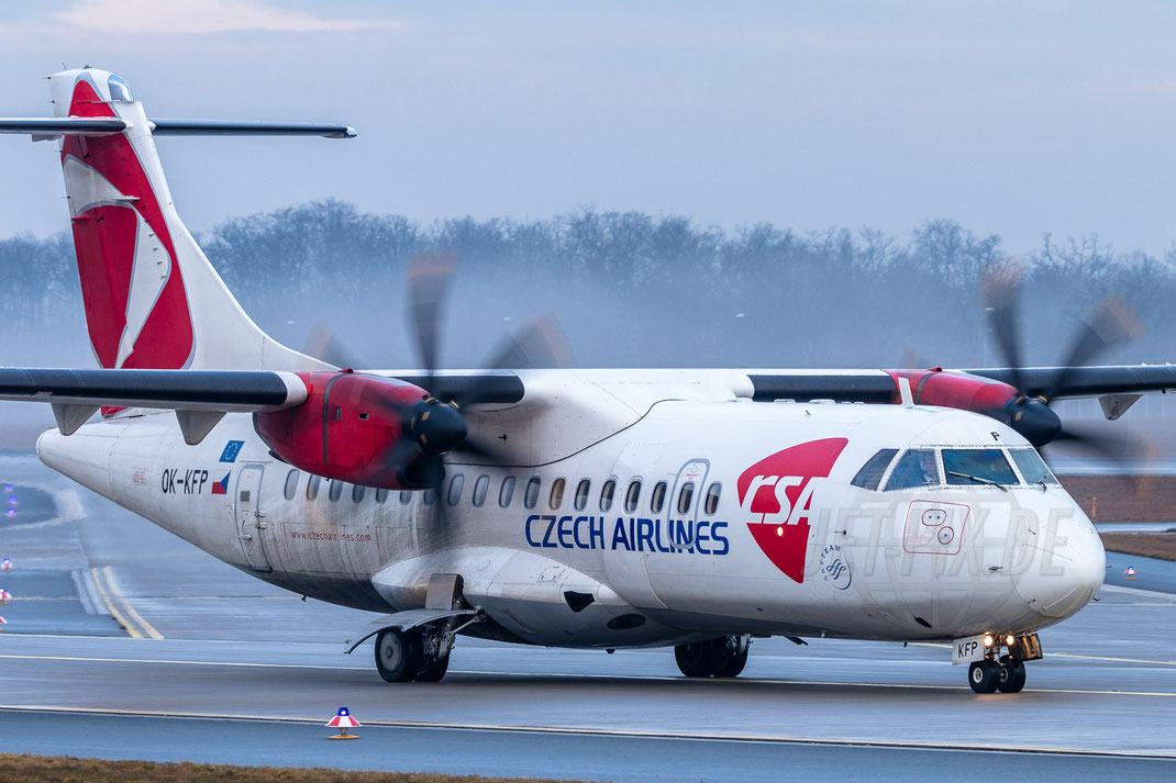OK-KFP Czech Airlines CSA ATR 42 2018 03 10 EDDF Frankfurt