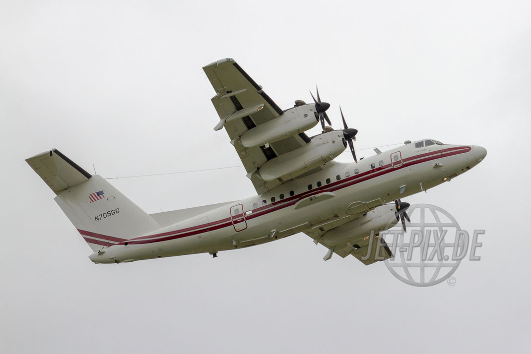 N705GG United States Army De Havilland Canada DHC-7-102 Dash 7 2012 07 17 Outbound ETOU Erbenheim