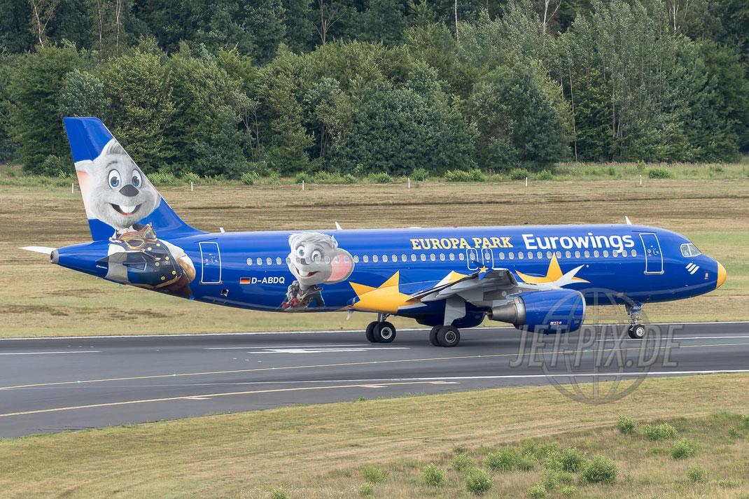 """D-ABDQ Eurowings Airbus A320  """"Europa Park"""" 2017 06 30 EDDK Köln/Bonn"""