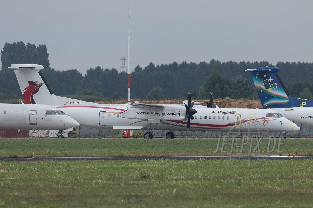 P2-PXS Air Niugini De Havilland Canada DHC-8-400 2017 07 16 Aachen-Maastricht (EHBK)