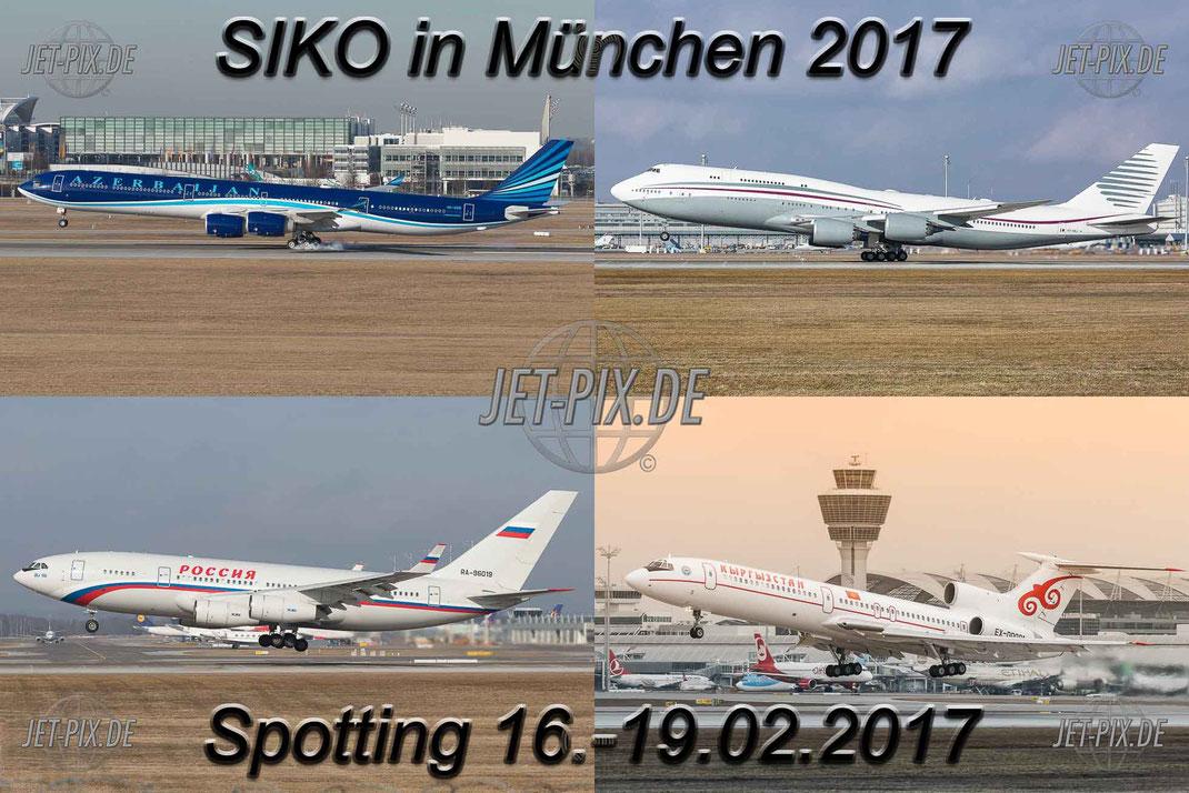 Sicherheitskonferenz (SiKo) in München 2017 Flughafen München Franz-Josef Strauss Airport Tu154M EX-00001 Bestes Wetter für Spotter