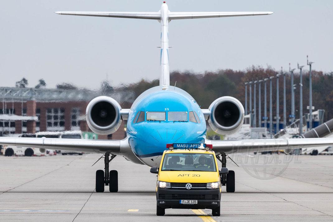 PH-KZS KLM Cityhopper Fokker 70 2017 10 28 EDDF Frankfurt Tour Fokker70 End