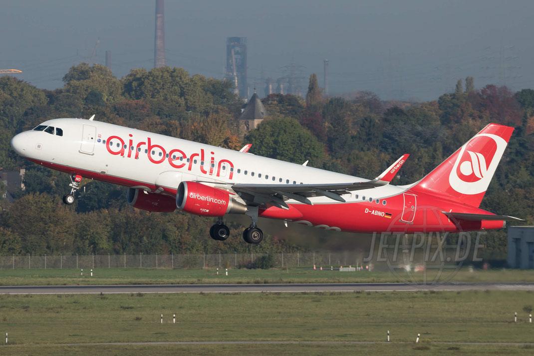D-ABNO Air Berlin Airbus A320-214(WL) 2017 10 14 EDDF Düsseldorf