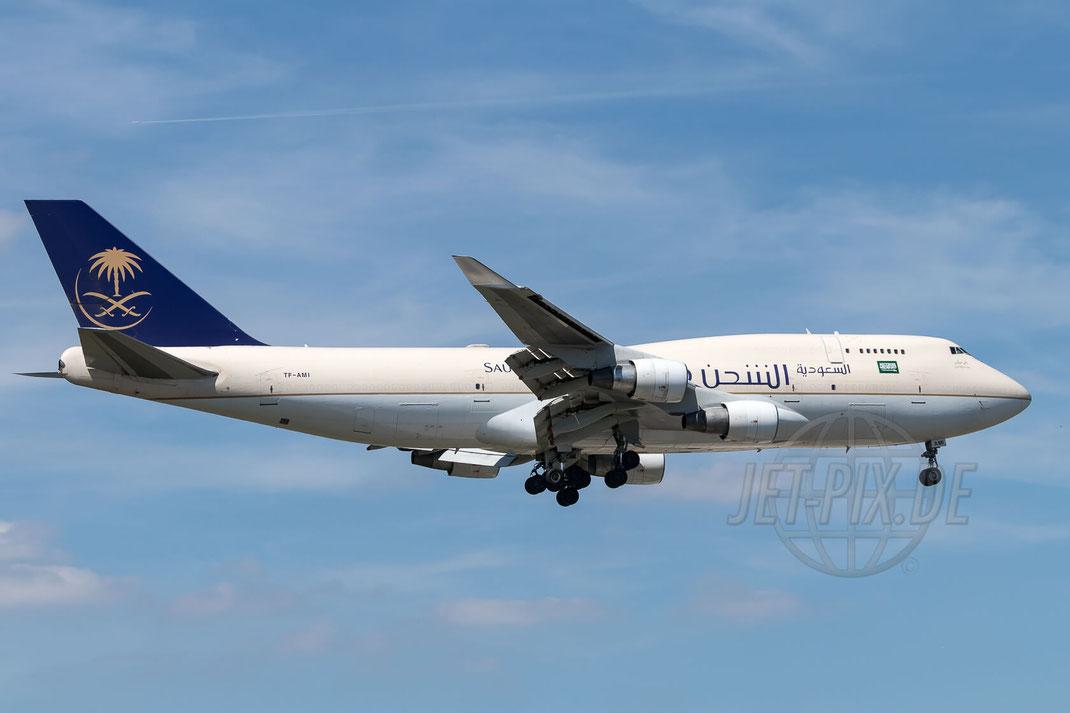 TF-AMI Saudia Arabian Airlines Boeing 747-412(BDSF) 2017 08 07 EDDF Frankfurt